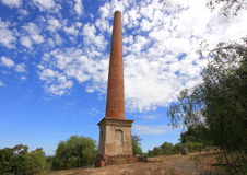 Old historical gold mining chimney Stock Photos