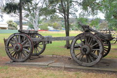 Old historical horse drawn wagon Stock Photography