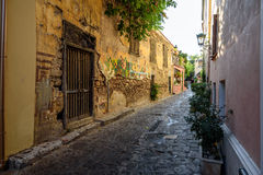 Old historical neighbourhood street of Athens Royalty Free Stock Photos