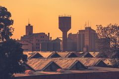 The old town centre in Lusaka royalty free stock photo