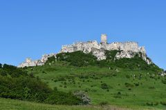 Old historical ruins of castle Spis Slovakia. Old historical ruins of castle Spis in Slovakia stock photos