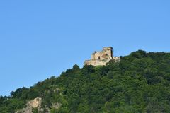 Old historical ruins of castle Zborov Slovakia. Old historical ruins of castle Zborov in Slovakia royalty free stock photo