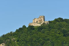 Old historical ruins of castle Zborov Slovakia. Old historical ruins of castle Zborov in Slovakia royalty free stock images