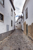 Old, historical street of Faro city in Portugal Stock Photography