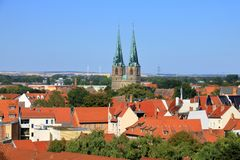 Old historical Town Quedlinburg, Germany royalty free stock photo
