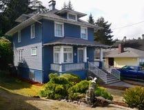 Old Historical Victorian Homes Astoria, Oregon Royalty Free Stock Photos