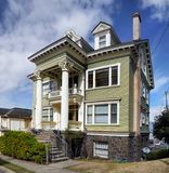 Old Historical Victorian Homes Astoria, Oregon Royalty Free Stock Photo