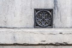 Old historical wall decor plate in Gent, Flanders, Belgium Stock Photography
