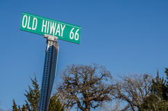 Old Hiway 66 Sign Stock Photography
