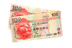 Old HK One Hundred bill Stock Photos