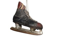 Old hockey skates Stock Photography