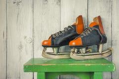 Old hockey skates Stock Photography