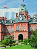 Old Hokkaido Government Building, Japan. Built in 1888, this building is known to Sapporo residents as Red Bricks or akarenga. It has an octagonal dome the Stock Images