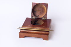 Old holder for pen and ink Stock Photo