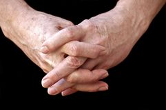 Old holding hands Royalty Free Stock Photo