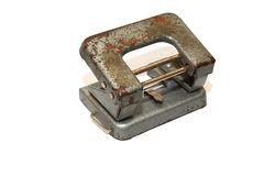 Old hole puncher Royalty Free Stock Photography