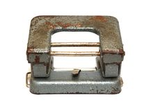 Old Hole Puncher Stock Photo