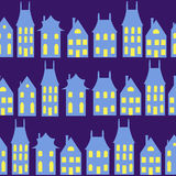 Old Holland cityscape  seamless background. Colorful dutch Stock Photography