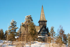 Old Holmenkollen chapel on sunny winter day Oslo Norway Stock Images