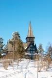Old Holmenkollen chapel on sunny winter day Oslo Norway Stock Image
