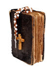 Old holy bible. With two cross Stock Photo