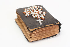 Old holy bible. With cross Royalty Free Stock Photo