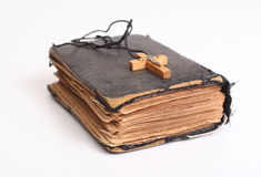 Old holy bible royalty free stock photography