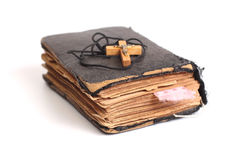 Old holy bible. With cross Royalty Free Stock Image