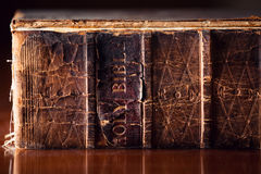 Old Holy Bible Close Up Royalty Free Stock Photography