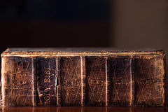 Old Holy Bible Stock Photo