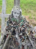 Holy Mary and many cross, Lithuania Stock Image