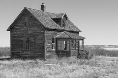 Old home. Old abandoned home in black and white Royalty Free Stock Photography
