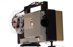 Old home cinema projector. For 8 mm films royalty free stock images