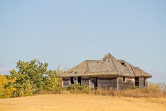An old home on farmland Stock Images