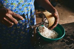 Old Home Kitchen In Sri Lanka Stock Photography
