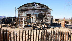 Old Home in the Mojave Desert stock video
