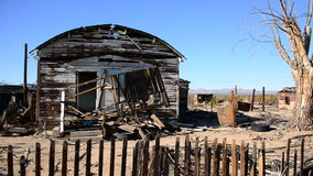 Old Home in the Mojave Desert stock video footage
