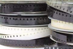 Old home movie reels Royalty Free Stock Photos