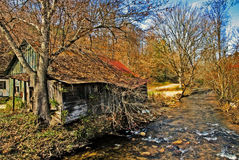 Old Home Place on the River royalty free stock images