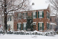 Old Home in Snow Storm Royalty Free Stock Images