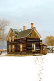 Old home stead. Winter scene of an old home stead Royalty Free Stock Image