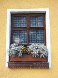 Old stained - glass window, Lithuania Royalty Free Stock Image
