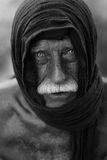 Old homeless man. Portrait of old homeless man Royalty Free Stock Photo