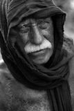 Old homeless man. Portrait of old homeless man Royalty Free Stock Photos