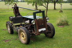 Old homemade vehicle. An old homemade tractor vehicle stock photography