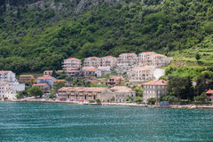 Old Homes and New Resorts on Montenegro Coast Royalty Free Stock Photos
