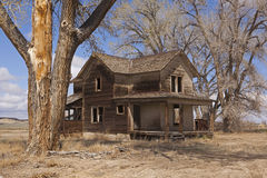 The Old Homestead. Located in Wyoming, this home was built by an early settler.  It has remained vacant for years Royalty Free Stock Photo
