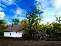 Old homestead. A very old abandoned homestead in Hungary stock photos