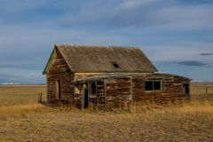 Old Homestead On The Prairie Stock Image