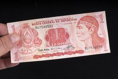 An old Honduras banknote royalty free stock images